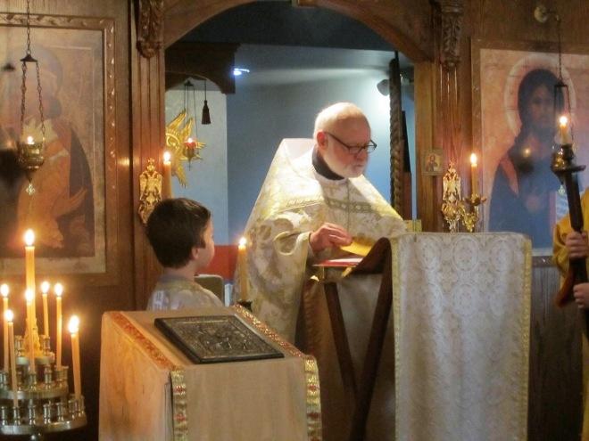 Fr John reading